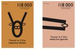 affichettes et format abribus